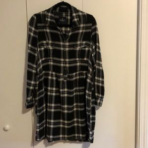 American Eagle Outfitters Flannel Dress Pockets